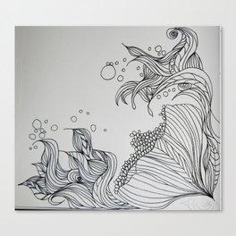 Illustrated Flower Canvas Print
