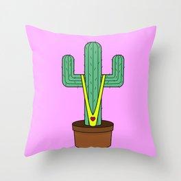 Cactus Thong Throw Pillow