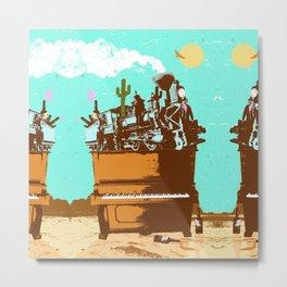 WESTERN PIANO Metal Print