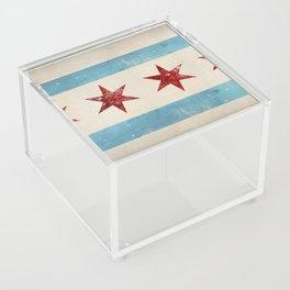 Chicago Flag Acrylic Box