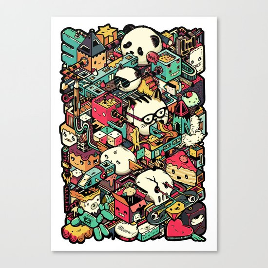 Welcome to Isometric City! Canvas Print