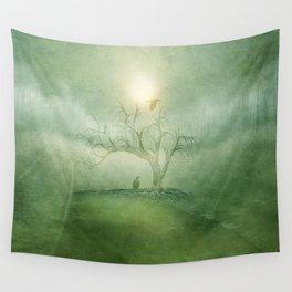 Greenery Sunrise Wall Tapestry