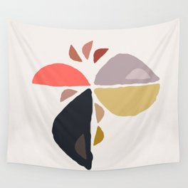 Winking Wedge Funny Face Abstract Birdie  Wall Tapestry