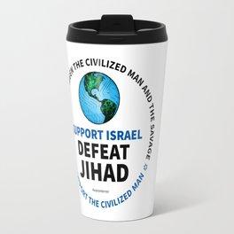 Support Israel, Defeat Jihad Travel Mug