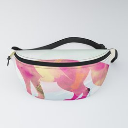Abstract Fox Fanny Pack