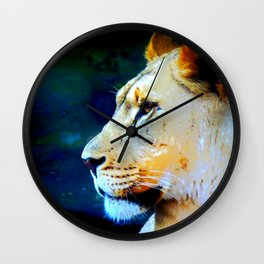 Artsy Lion Wall Clock