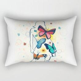 you give me butterflies Rectangular Pillow