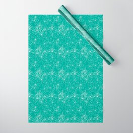 Floral Freeze Mint Wrapping Paper