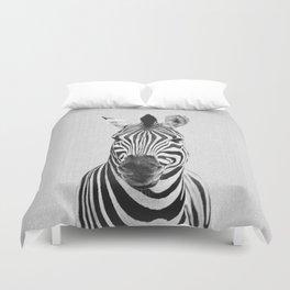 Zebra - Black & White Duvet Cover