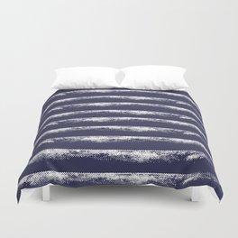 Irregular Stripes Dark Blue Duvet Cover