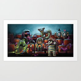 Monster Movie Art Print