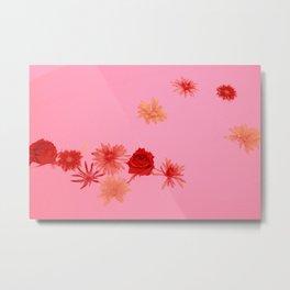 Fall Flowers in a Milk Bath Metal Print