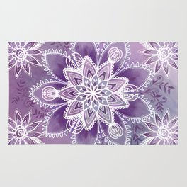Happiness Purple Rug