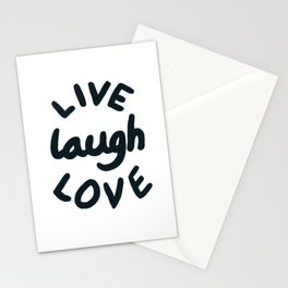 Live, Laugh, Love Stationery Cards