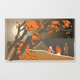 Russian Campfire Canvas Print