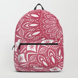 Red Wine Color Mandala Minimal Minimalistic Simple (Yet Bold) Backpack