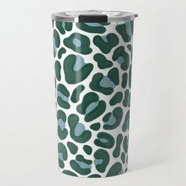 Teal Leopard Print Travel Mug