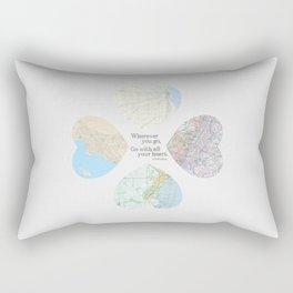 Go With All Your Heart Rectangular Pillow