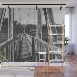 Black and White Bridge - Kauai, Hawaii Wall Mural