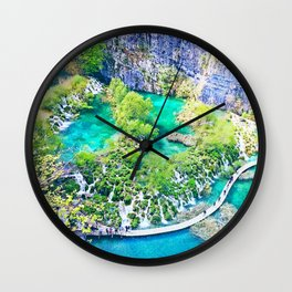 Waterfall Oasis Wall Clock