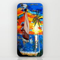 pirates iPhone & iPod Skins featuring PIRATES by Aat Kuijpers