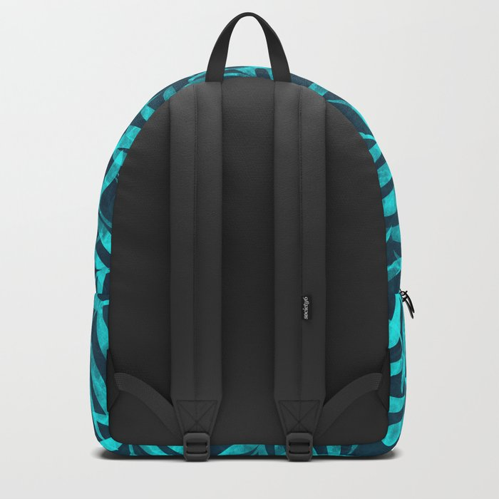 Watercolor Tropical Palm Leaves IX Backpack