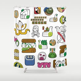 New Maya Language Shower Curtain