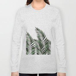 Palm Leaves Green Long Sleeve T-shirt
