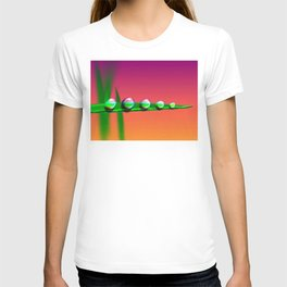 Water Drops on Grass T-shirt