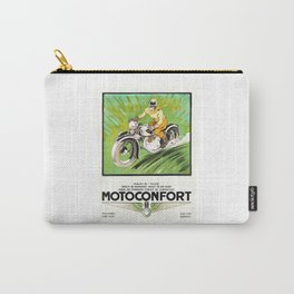 1937 Motoconfort Motorcycles Advertising Poster geo ham Carry-All Pouch