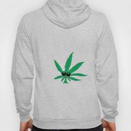 """Cartoon Weed Leaf Design"""" Marijuana leaf Leaf Hoody"""