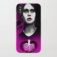 lydia martin iPhone & iPod Cases featuring Black Heart - Lydia by xKxDx