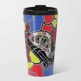 Authentic Aboriginal Art – Emu Dreaming Travel Mug