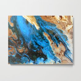 Pools Of Water Joining Up Metal Print
