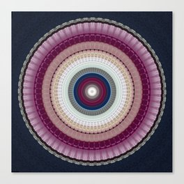 Decorative Wine Dark Blue Mandala Canvas Print