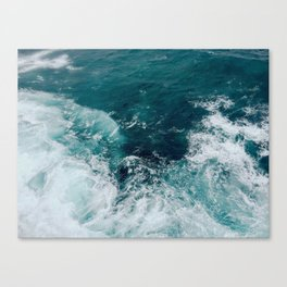 Ocean Waves (Teal) Canvas Print