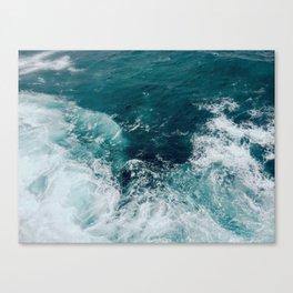 Ocean Waves (Teal) Canvas Print