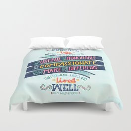 The Purpose of Life Duvet Cover