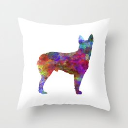 Australian Stumpy Tail Cattle Dog in watercolor-2 Throw Pillow