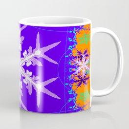 Purple Snowflake Modern Art Abstract Coffee Mug