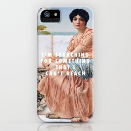 John William Godward, In the Days of Sappho (1904) / Halsey, Ghost (2014) iPhone Case
