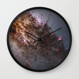 Firestorm of Star Birth in Galaxy Centaurus Wall Clock