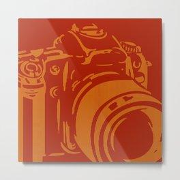 Camera Lines Metal Print