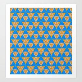 Magic Triad Pattern Art Print