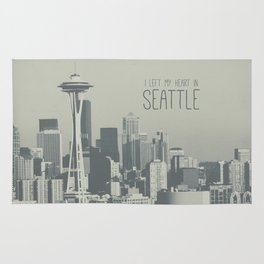 I LEFT MY HEART IN SEATTLE Rug
