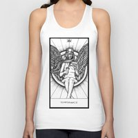 tarot Tank Tops featuring Temperance Tarot by Corinne Elyse