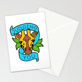 Judgy Geoffrey Giraffe Stationery Cards