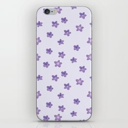 Abstract lilac violet lavender modern floral pattern iPhone Skin