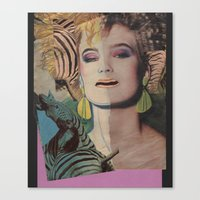 80s Canvas Prints featuring Totally 80s by Ira Carter