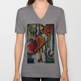 Abstract Monotype 1 Unisex V-Neck